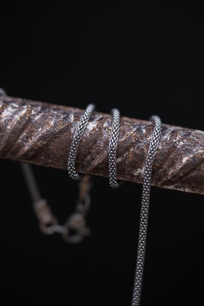 PYTHON – שרשרת בסגנון נחש מפלדה