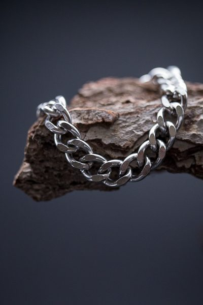 heavy steel bracelet