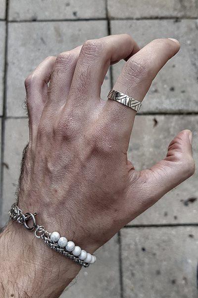 טבעת מגניבה מכסף