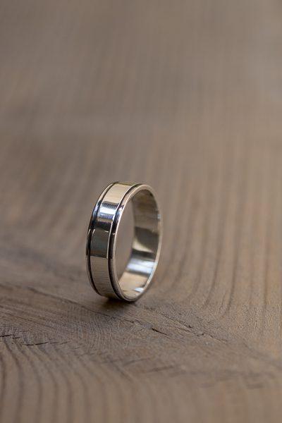 engraved men ring