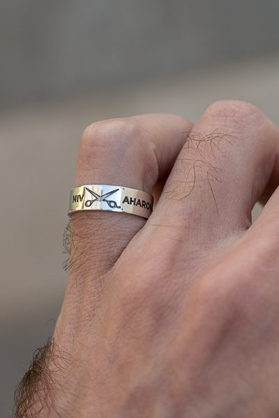 scissors silver ring