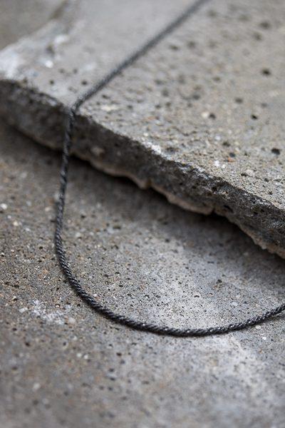 basic silver necklace
