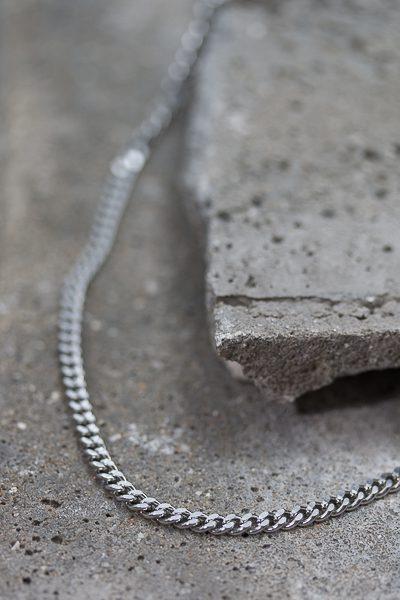 basic men's steel necklace